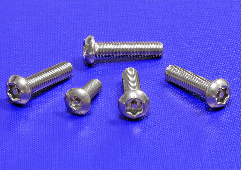 Button Head TX Pin Security Screws A2