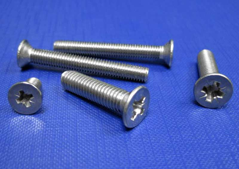 Countersunk Screws Cross Recessed Z (Pozidriv) A2 M1.6 up to M8 Din 965Z