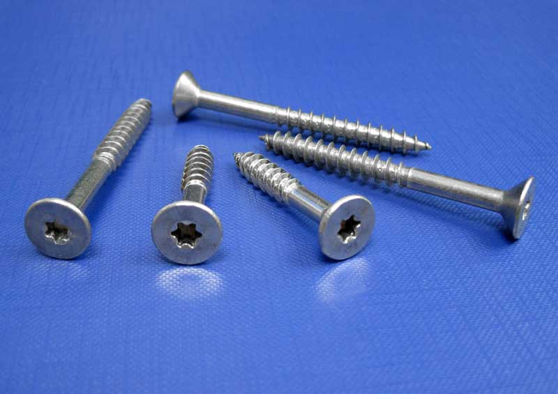 Countersunk Tx Drive Chipboard Woodscrew A2 (Part Thread) 3mm up to 10.0mm L9066TX