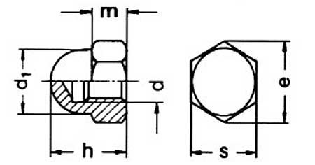Hex Dome Nut High Type