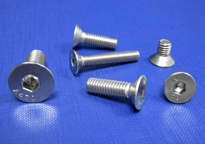 Socket Countersunk Head Screws M3 up to M16 A4/80 ISO10642