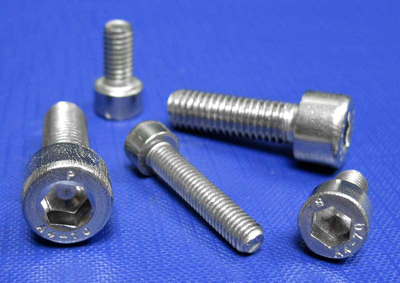 Socket Cap Screws A4/70 Din912 ISO 4762 M1.6 to M30