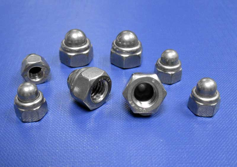 Nylon Insert Self Locking Dome Nuts M4 up to M16 Din986
