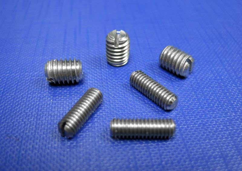 Slotted Grub Screws Flat Point M3-M10 (A4) Din551
