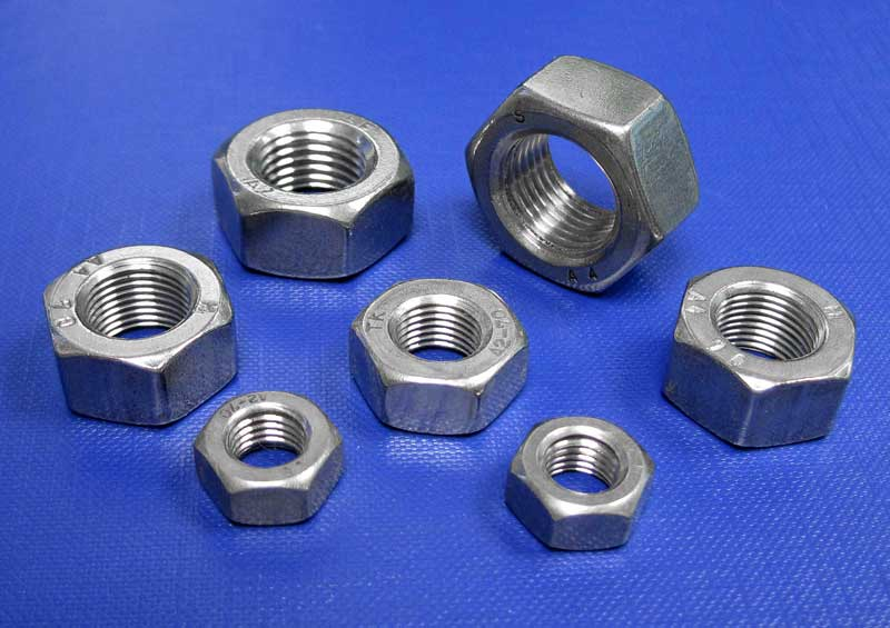 Hexagon Full Nuts Fine Pitch A2 - A4 M8 up to M39 Din934