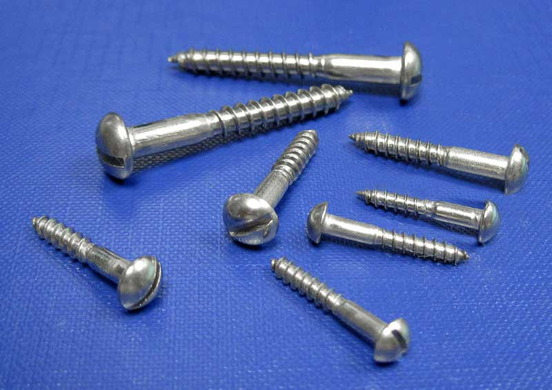 Round Hd Slot Woodscrews 2.5mm up to 6mm Din96