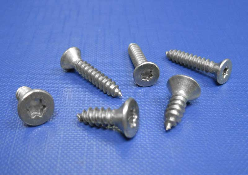 Countersunk Head Self Tapping Screws Six Lobe TX Drive Type C Point A2