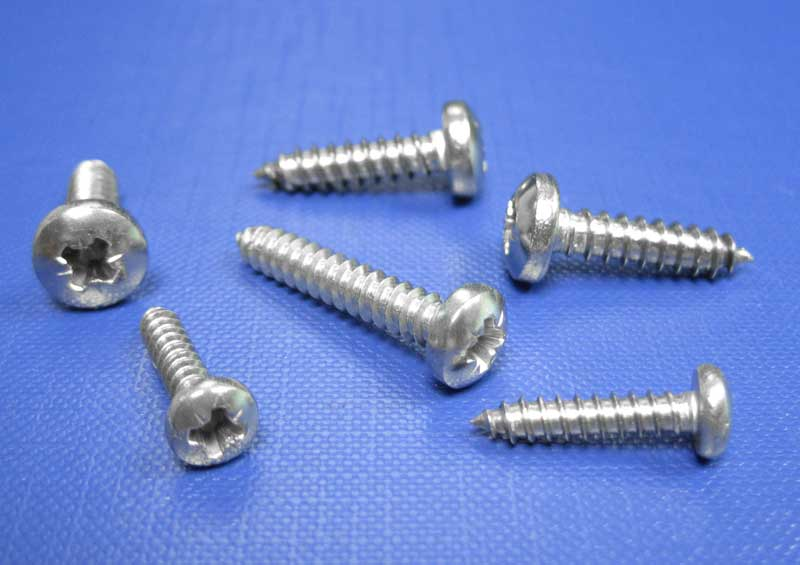 Pan Pozi Self Tapping Screws Type C Point No2 up to No14 Din7981 A4