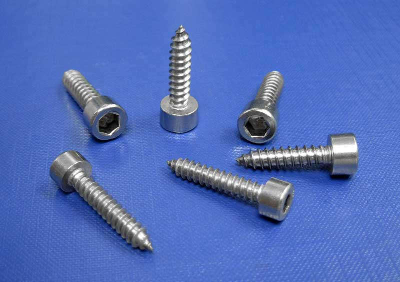Socket Cap Head Self Tapping Screws Head To DIN912 4.8mm up to 6.3mm L9052 A4