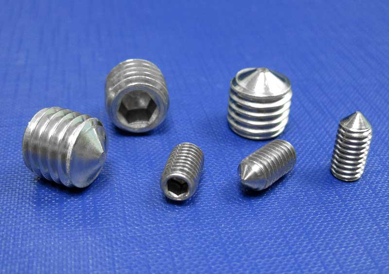 Socket Setscrews Cone Point M3 up to M20 (A4) Din914