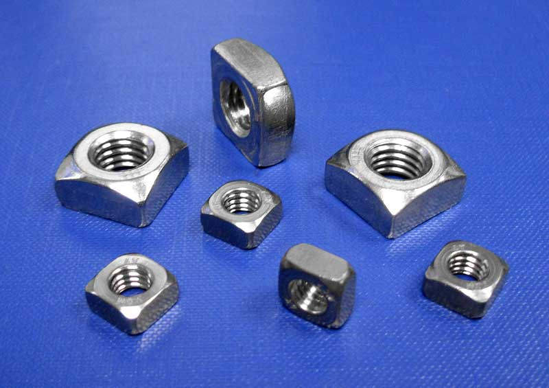 Square Nut Thick Type M5 up to M12 Din557 (A2 - A4)