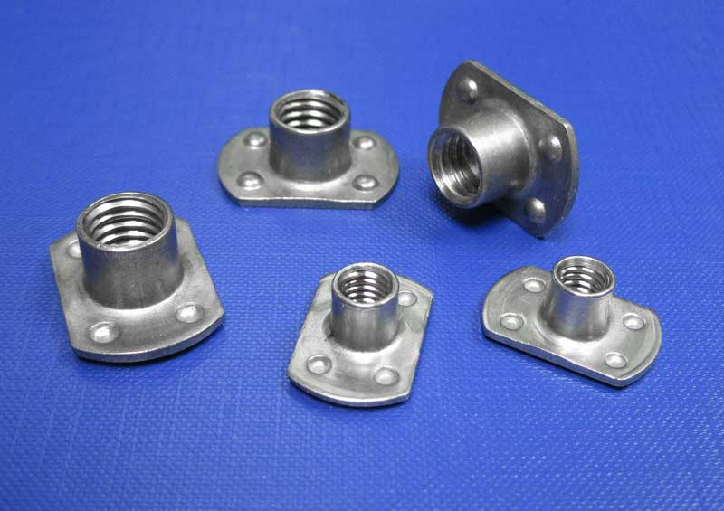 Flanged Weld Nuts M3 up to M10 Types A,B & C L9100