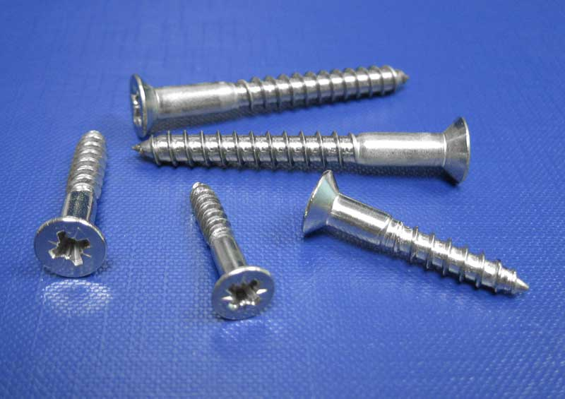 C/sk Head Pozi Recess Woodscrews 3mm up to 6mm DIN 7997 A2