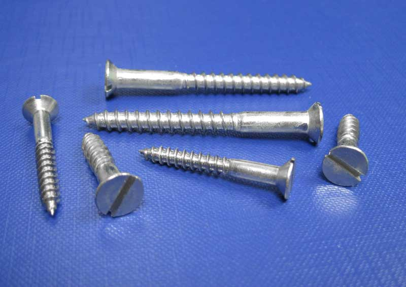 C/sk Hd Slot Woodscrews 2.5mm up to 8mm Din97