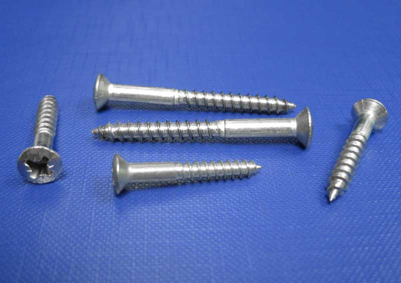 Rsd C/sk Pozi Recess Woodscrews 3mm up to 6mm