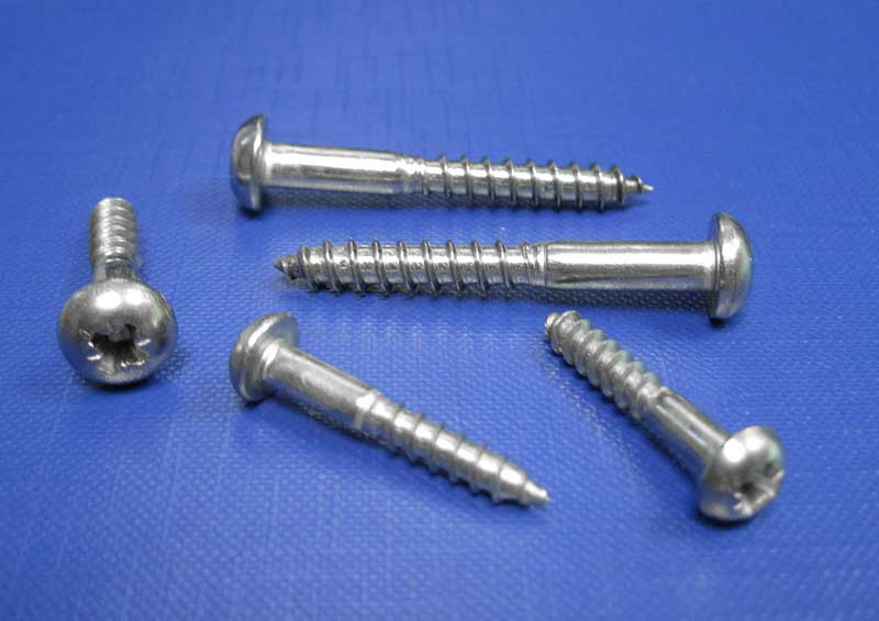 Round Head Pozi Recess Woodscrews 3mm up to 6mm